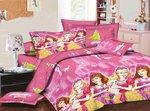 Riyasat-Princess Pink Baby Themes Design Printed Double Bed Sheet Set