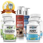 Wow Green Coffee with Wow Body Cleanse, Wow Hair Vanish and Wow Slimming Gel Value Pack (Pack of 6) with free Massager