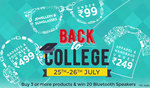 Back to College : 30 - 50% off on Apparel