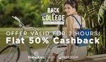 Upto 80% + Flat 50% Cashback on Branded Bags