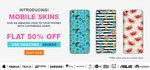 Get Flat 50% Off Mobile Skins