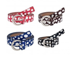 Pack of 4 Multicoloured Artificial Leather Polka Dotted Belts For Women