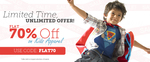 Flat 70% Off on Kids Apprael