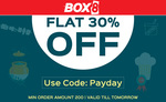Flat 30% off on Food Orders