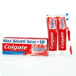 Colgate Maxfresh Red Toothpaste - 300 g + 1 Toothbrush Free Saver