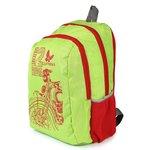 Lutyens Polyester Parrot Green Red School Bags (17 Liters) (Lutyens_196)