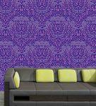 Me Sleep Purple PVC Beautiful Wallpaper
