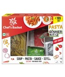 Chef's Basket Red Or White Sauce Pasta and Soup Dinner Kit for 2 + Rs. 200 BookMyShow Movie Voucher