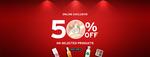 Flat 50% Off on Select Merchandise