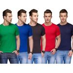 Shopclues : Pack of 5 Round Neck T-Shirts