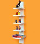 DecorNation White Wall Mounting 5 Tier Durable Shelf