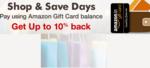 Shop & Save Days: Pay using Amazon Gift Card Balance & Get Upto 10% back