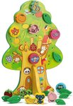 Senteng Wooden Animal Fruit Beads Lacing Tree Toy