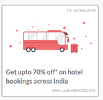 Get upto 70% off* on hotel bookings across India