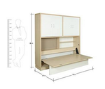 HomeTown Rhodes Single Size Bed with Storage (Matte Finish, Wenge and White)