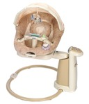 Graco Beige Fabric And Metal Infant Soothing Swing