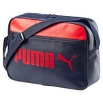 Puma Synthetic 12 Ltrs Peacoat and High Risk Red Messenger Bag