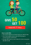 Get Rs.50 Crownit voucher (New Users)