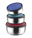 Classic Essentials Steel Food Container (Set-of-3)