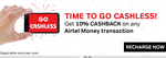 10% cashback on all Transactions