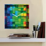 Creative Width Colored Checkers Wall Clock