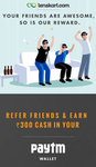 Rs.300 Paytm Cash on referring your friend to Lenskart
