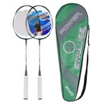 Strauss Nano Spark Badminton Racquet 2 Pieces with cover (Green)