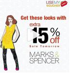 Flat 15% on Zara, Marks & Spencer, DKNY Gift Vouchers on UseMyVoucher App