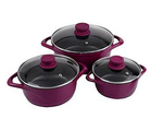 Wonderchef Ceramide 6 Pcs Cook & Serve Casserole Set - Pink