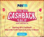 Paytm Cashback Sale :  Upto 80% cashback