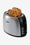 Oster TSSTJC5BBK 800 W Pop Up Toaster Silver and (Black)