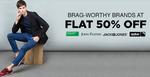 Flat 50% off on Fashion Brands like John players, jack n jones, spykar and many more.