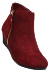 Womens Suede Leather Ankle Zipper Closure Boot - Shoppersstop.com