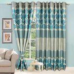 Vorhang Exotic Jacquard Blue Curtain