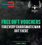 Win an assured Gift Voucher with every Peter England purchase
