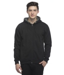 Lambency Black Cotton Hooded Sweatshirt