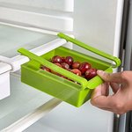 Okayji Plastic Kitchen Refrigerator Fridge Storage Drawer Rack Freezer Shelf Holder Kitchen Organization - Green by Okayji