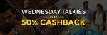 Get 50% cashback on Movie tickets