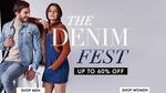 Myntra - The Denim Fest - Upto 60% Off (Apparels & Footwear)