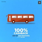 100% Cashback on 1st Bus Booking