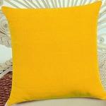 "FabHomeDecor Designer Supersoft Microfibre Cushion - 16""x16"", Yellow"