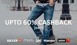 Upto 60% cash back on Branded Jeans