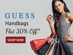 Flat 30% off on GUESS handbags