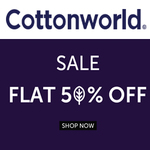 Cottonworld Fashion Sale: Flat 50% Off + 5% Extra Discount