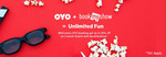 With Every Oyo booking get upto 50% off on 2 BMS Movie Tickets