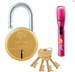 Godrej Nav-Tal 7 Lever Padlock (Golden) with Torch (Assorted color)