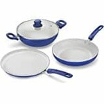 Wonderchef Da Vinci Aluminium Frying Pan Set, 3-Pieces, Yellow