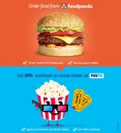 Order Food on Foodpanda and get 50% cashback coupon on movies from PayTM
