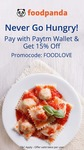 Pay with Paytm on Foodpanda and get 15% off