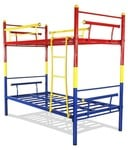 Snapdeal - FurnitureKraft Bunk Bed in Multi Color Steel